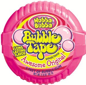 bubble tape cotton candy