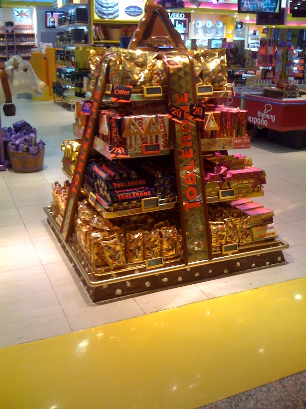 toblerone display