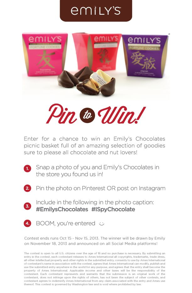 Emilys Chocolates Picnic Basket Contest